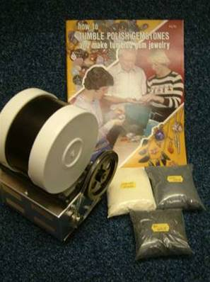 BEACH 2Lb STONE POLISHER /ROCK TUMBLER KIT WITH GRITS & BOOKLET. 2lbkitbkgrt