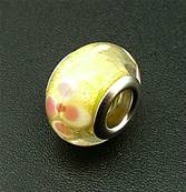CHARM BEAD WITH SILVER PLATED LINING. 68200182