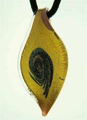 MURANO GLASS LEAF PENDANT. SP3441MUR