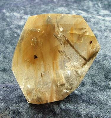 SMOKEY QUARTZ WITH GOLDEN RUTILE POLISHED 'FREE FORM' CRYSTAL. SP5260POL