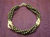 "HEMATITE BRACELET FEATURING SILVER & PEARL BEADS WITH LOBSTER CLASP. 8"". CYB83034"