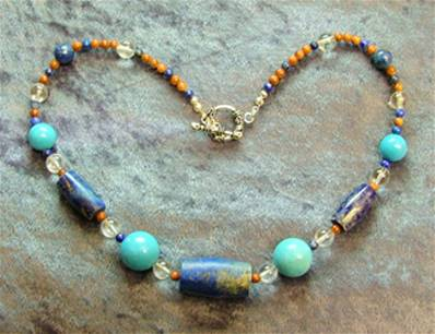 "16"" BEAD NECKLACE. SP4561"