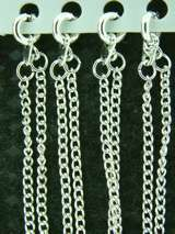 SILVER PLATED CHAINS 18