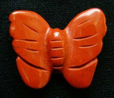 BUTTERFLY CARVING IN RED JASPER. SPR3962POL