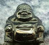 BLUE GOLDSTONE BUDDA CARVING. SPR4008POL
