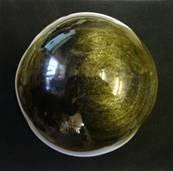 GOLD SHEEN OBSIDIAN SPHERE. SP4700POL