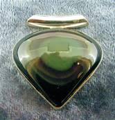 925 SILVER WITH RAINBOW SHEEN OBSIDIAN PENDANT. SP5168PEND