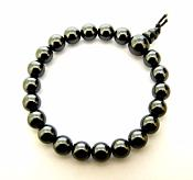 HEMATITE POWER BEAD BRACELET (ELASTICATED).   SPR9874POL