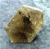 SMOKEY QUARTZ WITH GOLDEN RUTILE POLISHED 'FREE FORM' CRYSTAL. SP5234POL