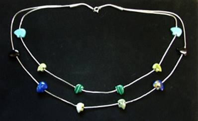 925 SILVER TUBULAR BEAD NECKLACE. SP5602