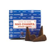 NAG CHAMPA DHOOP CONES. (12 CONES WITH STAND). 28g PER BOX. SP1149