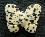 BUTTERFLY CARVING IN DALMATION JASPER. SPR3973POL