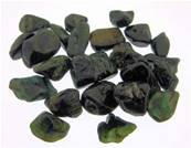 GREEN TOURMALINE TUMBLE STONES (SMALL SIZE) 10 PACK.