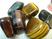 TIGERS EYE BLUE. POL115
