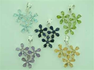 925 SILVER FLOWER DESIGN PENDANTS. 40MM DROP INCLUDING BAIL X 30MM WIDE. 8g. SPR584PEND