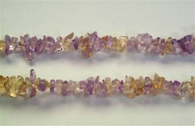 "AMETRINE GEM CHIP BRACELET. 7"" LONG. 8g. SPR650"