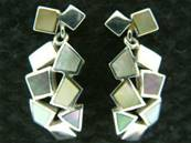 925 SILVER MOTHER OF PEARL PENDANT EARRINGS. ERMB2215