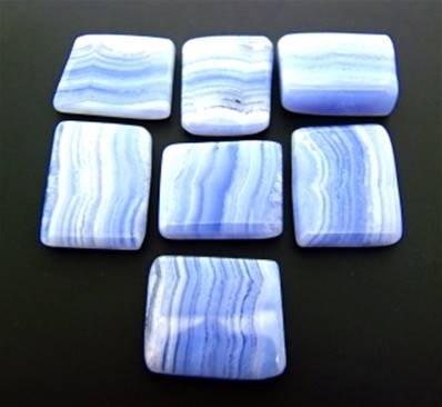 BLUE LACE AGATE POLISHED SLICES. SPR9431POL