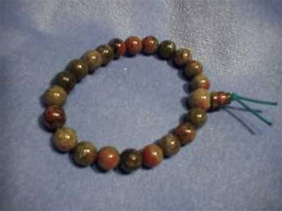 UNAKITE AGATE POWER BEADS. 279