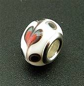 CHARM BEAD WITH SILVER PLATED LINING. 68200136