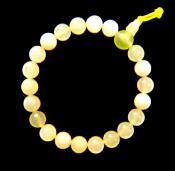 NEW JADE POWER BEAD BRACELET (ELASTICATED). SPR9880POL