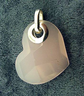 ROSE QUARTZ FACETED HEART PENDANT FEATURING A 925 SILVER BAIL. SPR5307PEND