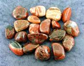 POPPY JASPER POLISHED TUMBLE STONES. SPR7327POL