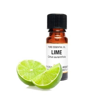 PURE ESSENTIAL OIL - LIME. citrus aurantifolia. 10ml. 1/3 fl oz us. 40g. SPR1080