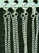 "SILVER PLATED CURB STYLE CHAIN. 18"". 4g. SPR1068"