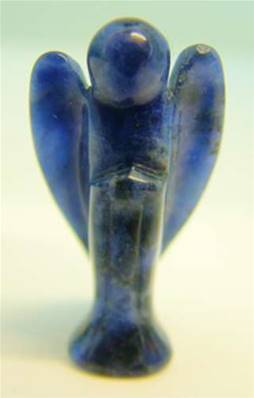 MINI ANGEL CARVING IN SODALITE. SPR2961POL