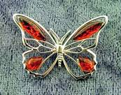 BUTTERFLY DESIGN PENDANT IN 925 SILVER. SPR6271