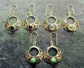 925 SILVER PENDANT STYLE CREOLE EARRINGS WITH FILIGRE DETAILING. 21.553
