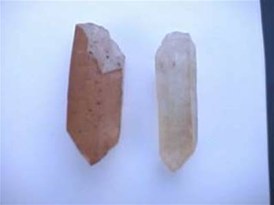 TANGERINE QUARTZ POINT SPECIMENS. QUAR60
