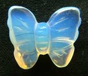 BUTTERFLY CARVING IN OPALITE. SPR3972POL