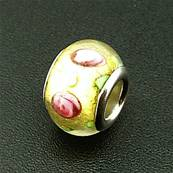 CHARM BEAD WITH SILVER PLATED LINING. 68200183