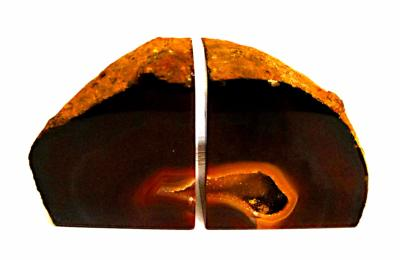 AGATE BOOKEND PAIR.   SP10038SHLF