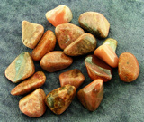 BUSTAMITE POLISHED PEBBLES & PALMSTONES