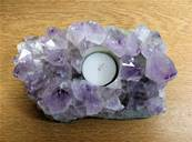 AMETHYST DRUZE SINGLE TEA LIGHT HOLDER. SP8399SHLF