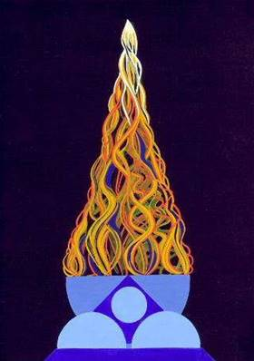 Fire Puja Limited Edition (500) Print by Geoffrey Treissman. greg11