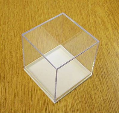 5 X PLASTIC DISPLAY BOX - WHITE BASE WITH CLEAR TOP (N5 SIZE). N5/51/51/52