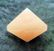 ROSE QUARTZ OCTAHEDRON. SP8193POL