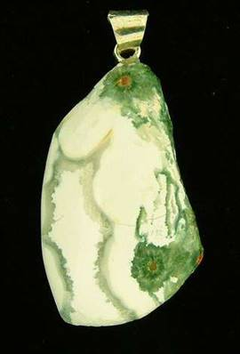 PART POLISHED ORBICULAR JASPER PEBBLE PENDANT. SP2002PEND