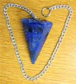 SODALITE FACETED POINT STYLE PENDULUM. SPR2946