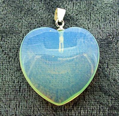 OPALITE HEART PENDANT FEATURING A 925 SILVER BAIL. SPR5306PEND