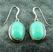 925 SILVER PENDANT STYLE EARRINGS. 519E