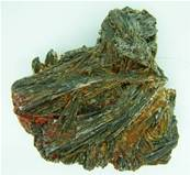 BLACK KYANITE WITH IRON STAINING. SP2230