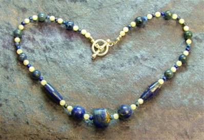 "16"" BEAD NECKLACE. SP4567"