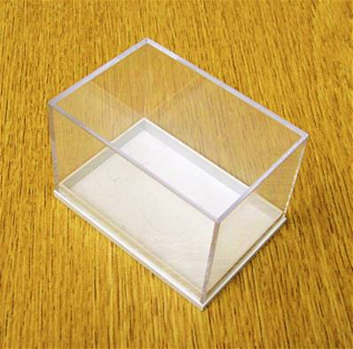10 X PLASTIC DISPLAY BOX - WHITE BASE WITH CLEAR TOP (P3 SIZE). P3/59/41/39