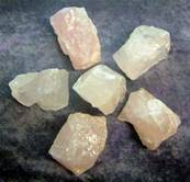 ROSE/ LILAC QUARTZ ROUGH CRYSTAL SPECIMENS. SPR3420