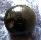 BLACK SHEEN OBSIDIAN SPHERE. SP4619POL